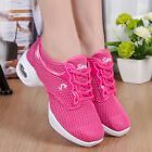 Women's Dance Shoes Fitness Mesh Sports Breathable High Heel Training Sneakers
