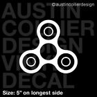 FIDGET SPINNER Vinyl Decal Car Truck Window Laptop Sticker - Icon Symbol Trendy