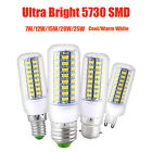 E27 E14 G9 B22 7W 9W 12W 15W 20W 25W 5730 SMD LED Corn Bulb Lamp Light 110V-240V