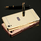 Luxury Slim Metal Aluminum Frame + Mirror Case Cover for Sony Xperia Phones