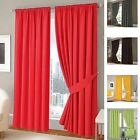 100% Cotton Panama Twill Curtains Fully Lined Ready Made Thermal Quality
