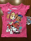 """Paw Patrol """"cute pups"""" shirt features Skye, Marshall and Chase, Toddler girls"""