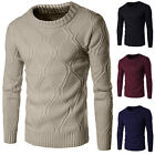 Men's Thick Sweater Knitted Pullover Autumn Winter Warmer Slim Jumper Sweaters