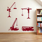 Cranes Construction Building Wall Stickers Children Kids DIY Builders Crane A59
