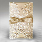 Personalised Intricate Wedding Invitations Laces Laser Cut Floral Free P*P