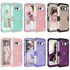 Bling Crystal Rubber Hybrid Studded Diamond Protective Case Cover For Samsung S8