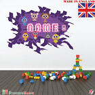 NEON 11 Wall PERSONALISED NAME Children Room Wall Sticker Decal Fabric  Vinyl UK