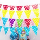 10ft/3M Polka Dots Flag Banner Spots Spotty Garland Decoration Birthday Party
