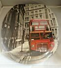 London and London Bus Print  MDF Toilet Seat with Chrome finish hinge