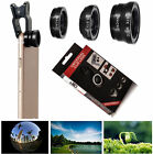 3in1 Fish Eye+Wide Angle+Macro Clip-on Camera Lens kit iphone/Samsung Galaxy