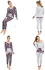 Ladies Jersey Pyjamas Cotton Viscose SLIM FIT Pocket Cuffed Ankles Floral Camo