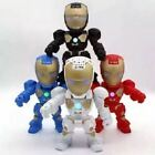 C-89 Iron Man Bluetooth Speaker with LED Flash Light Deformed Arm Figure Robot P