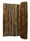 "Black Bamboo Fence-1"" Dia-8 Ft Sections Commercial Grade- Choice of 3 Heights"