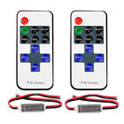 2 Kits RF Remote Controller DC 12V 11 Key Mini Dimmer Switch for 5050 3528 5630