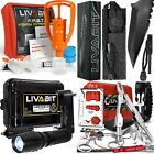 First Aid Safety Tool Kit Extractor SOS Paracord Knife LED Light Multitool Card