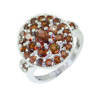 scenicbonny Garnet Silver Red Ring supply L-1in US 5,6,7,8