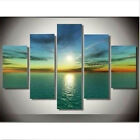 Wall Art Oil Painting 5PC Modern Abstract Huge Canvas Home Decor With Framed