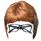 2pc set Brown Wig and Glasses 60s Swinging Mens Austin Powers Groovy Costume