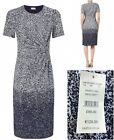 NEW EASTEX Ombre Printed Blue White Shift Dress Wedding Party 10 - 22 RRP £99.00
