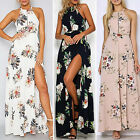 Womens Maxi Boho Floral Printing Summer Beach Long Dresss Cocktail Party DressHF