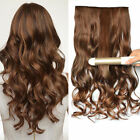 "16""-24"" One Piece with 5 Clips in Human remy Hair Extensions Wavy hair"