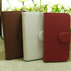 Classic Litchi Skin Wallet Holder flip case cover for Samsung Galaxy Phone