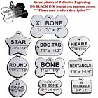 Custom Engraved Pet ID Tags for Dogs and Cats, Stainless Steel Front and Back