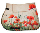 Horse saddle pad  POPPIES