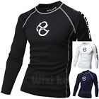 Mens Beach Water Sports Rash Guard Wetsuits Long Sleeve Top Summer Swimwear T523