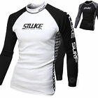 Mens Beach Water Sports Rash Guard Wetsuits Long Sleeve Top Summer Swimwear T526