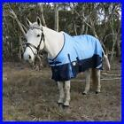 LOVE MY HORSE 1200D 5'3 - 6'9 Ripstop Reflective Rainsheet Std Rug Blue / Navy