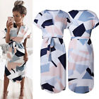 Women's Summer Casual Short Sleeve Dresses Party Cocktail Bodycon Mini Dress
