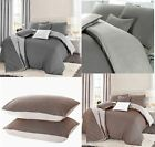 Monochrome Modern Reversible Grey Black White Geometric Duvet Cover Set