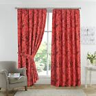 Amazon Tree Bird Animal Print Poly Cotton Lined Curtain Thermal Warm Hotel Look