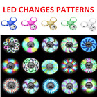Fidget Spinner LED Light Up Glow Pattern Hand Finger Stress Relief Toy EDC New..