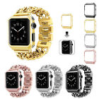 Stainless Steel Watch Band Strap+Protect Case Cover For Apple Watch 2/1 38/42mm