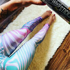 Women Quick-drying thin YOGA Gym Sports Pants Leggings Fitness Stretch Trousers