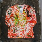 New Keenan Duffty Paint Splatter Long Sleeved T Shirt Size XL BNWT RRP £150 Punk