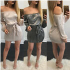 Ladies Womens Long Sleeve vintage Dress  Summer Bodycon cocktail party Dresses.
