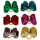 50 /100pcs Bling Sequins Dog Hair Bows Grooming lot for Shih Tzu Pomeranian