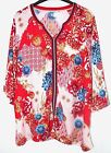 New TU Sainsbury Womens Oriental Floral Boho Kaftan Tunic Top 10 12 14