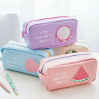 New Fruit Pencil Pen Case Box Cosmetic Pouch Pocket Brush Holder Makeup Bag