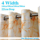 Single Panel Eyelet PRINTED Curtain With Pattern 140-300cm (W)/ 221cm (D)