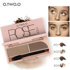 Natural Eyebrow Powder Makeup Brow Stamp Seal Palette Definition Kit Waterproof