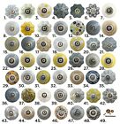 Yellow and Grey Vintage Ceramic Cabinet Door Knobs | China Cupboard Drawer Pulls