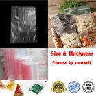 100 Pcs Sale Zipper Bags Grip Seal Self Resealable Mini Grip Poly Plastic Clear
