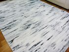 Stain Resistant 20mm Thick Soft Pile Modern Rugs New Age White Grey Black Marble