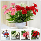 10 Head Artificial Carnation Silk Flower Bouquet Wedding Party Home Floral Decor