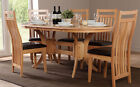 Townhouse & Bali Extending Oak Dining Table and 4 6 Chairs Set (Brown)