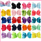 Hair bow 8 inch clip ribbon girls grossgrain large dance moms diamante rainbow